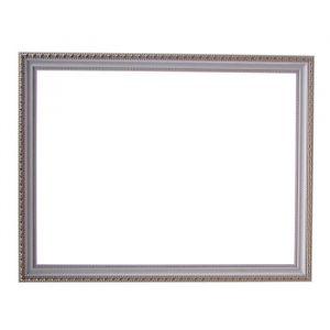 Рама для зеркал и картин, пластик, 30 х 40 х 2.6 см, Calligrata 642968, белая с золотом