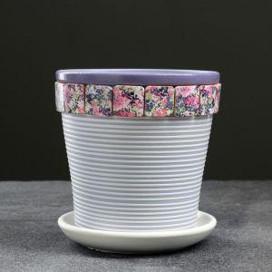Горшок цветочный Сирень сиреневый  клен №1 0,8 л 4841356