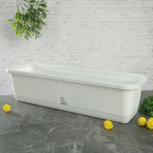 Балконный ящик с поддоном 60 см, цвет мраморный