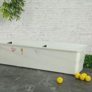 Ящик балконный 80 см, цвет мраморный