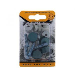 Зеркалодержатель d=17 мм, мет+пласт.№ 5, изумрудный металлик, 4 шт. 5132947