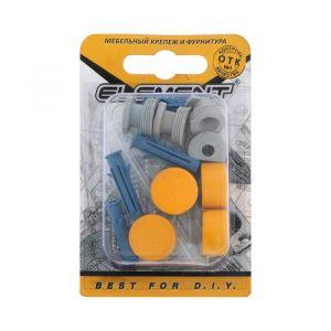 Зеркалодержатель d=17 мм, мет+пласт.№11, желтый, 4 шт. 5132943