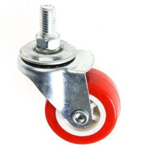 Колесо мебельное, d=38 мм, с футоркой М8, красное 2371567