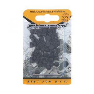 Заглушки декоративные 5 мм, черный, 50 шт. 5132878