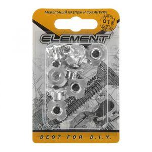Гайка мебельная забивная Element, М6 мм, оцинкованная, на блистере 10 шт.   2332967