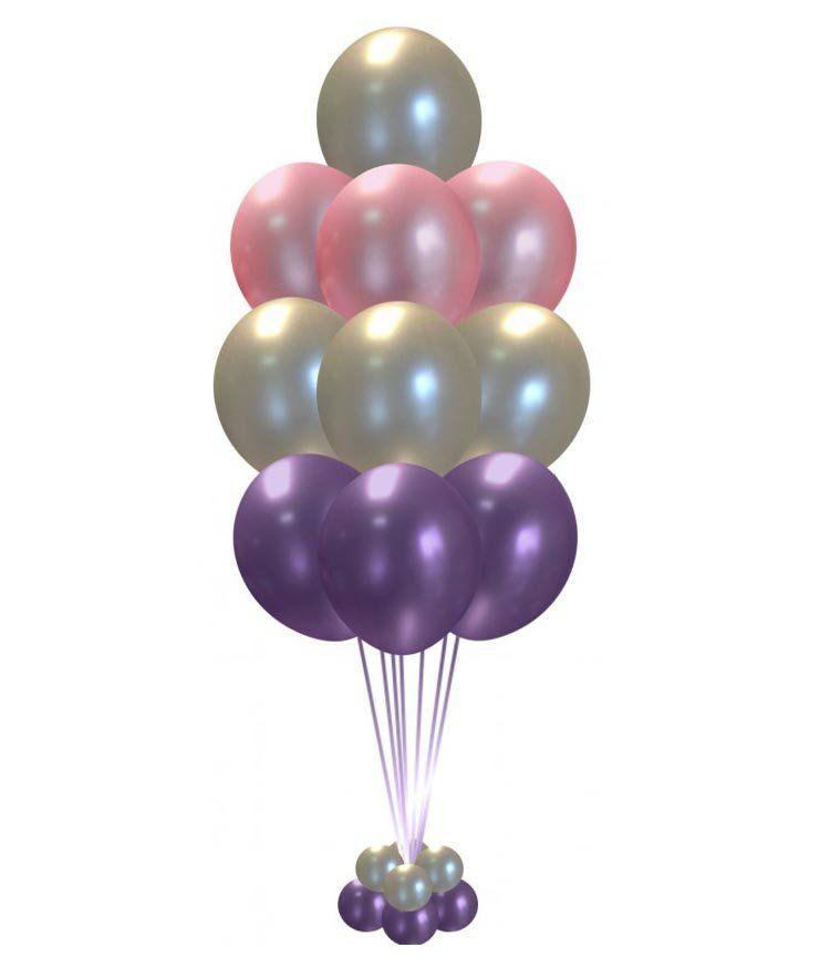 Гелиевые шары набор хром с подставкой