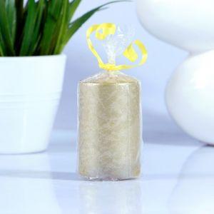 Свеча Цилиндр 40 Н-60 парафин золото 2823902