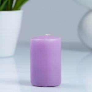 Свеча- цилиндр, парафиновая, лаванда, 4?6 см   4205490