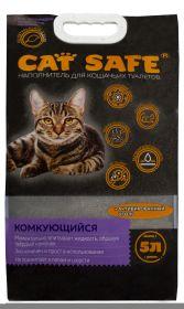 Cat safe наполнитель комкующийся с углем, 5л