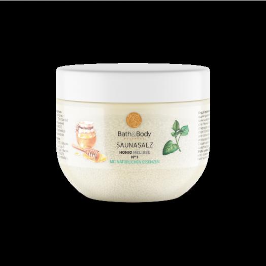 Соль для бани №1 / Мед и мелисса / пилинг с антицеллюлитным эффектом