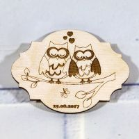 Свадебные магниты с совами
