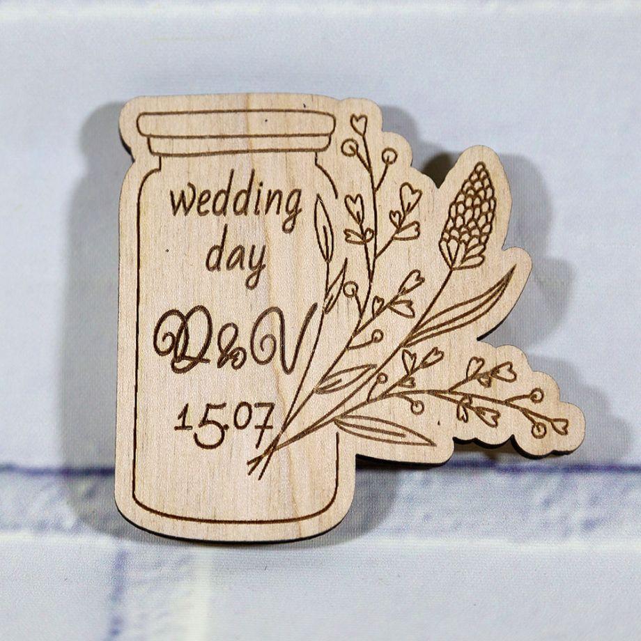 Свадебное приглашение баночка с ветвью