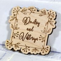 Свадебное приглашение необычной формы с ветвями