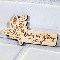 Свадебное приглашение с ростками узкое
