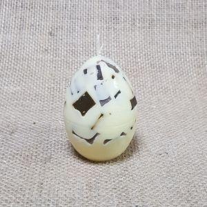 Свеча Яйцо м.Мозаика сливочно-шоколадная 4,5х6,5   4413717