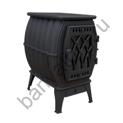 Отопительно варочная печь Бахта NEW (цв. черный)