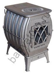 Отопительно варочная печь Бахта NEW ПЧ-12 (цв. серый)