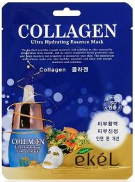 Маска тканевая для лица с коллагеном «Collagen» Ekel, 25 мл