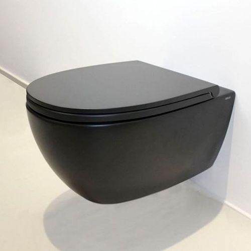 Унитаз подвесной Globo 4All черный без ободка