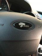 Накладка на эмблему подушки руля, сталь с лого, 3 цвета