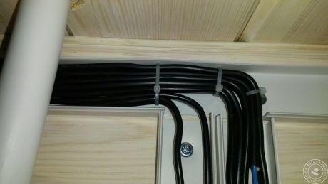 Прокладка кабеля в кабель канале сечением до 4 кв.мм