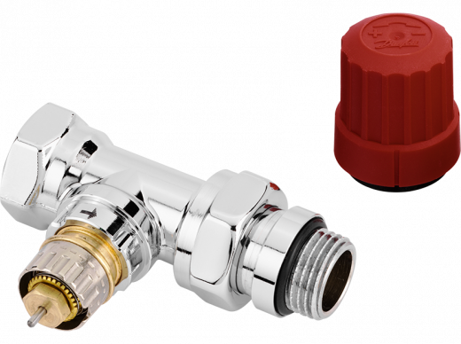 Клапан термостатический RA-NCX, DN 15, прямой, хромированный