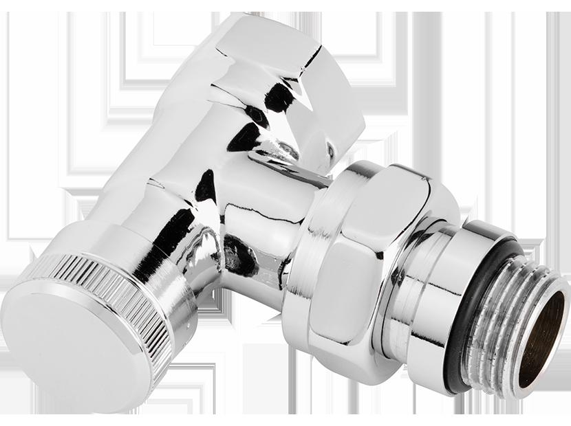 Запорный клапан RLV-CX, DN 15, угловой, хромированный