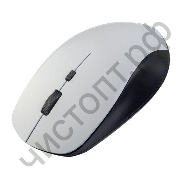 "Мышь беспроводн. Perfeo ""STRONG"", 4 кн, DPI 800-2400, USB, белая"