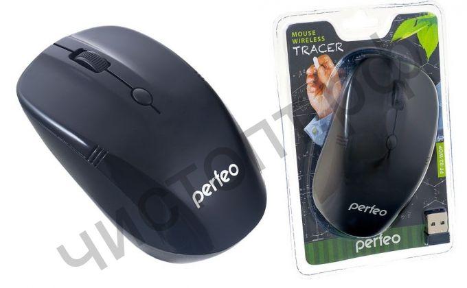 "Мышь беспроводн. Perfeo ""TRACER"", 4 кн, 1200 DPI, USB, чёрная"