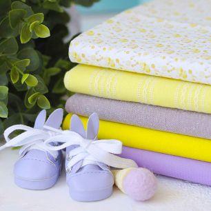 Набор тканей для пошива Пёстрые ирисы