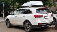 Автомобильный бокс на крышу Koffer A-480, 480 литров, белый матовый