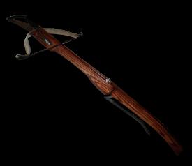 Арбалет со стальной дугой и изогнутым прикладом