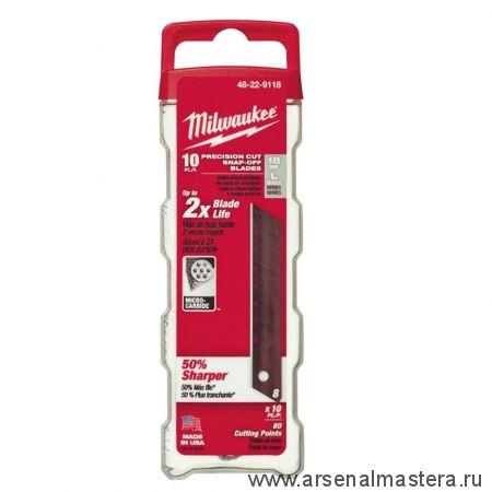 Запасное лезвие 18 мм в комплекте 10 шт. Milwaukee 48229118