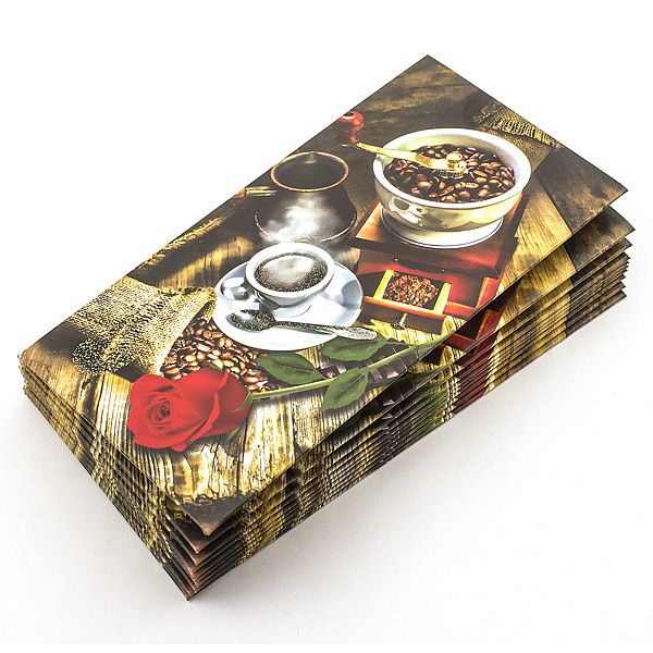 Конверт Поздравительный N 12 в уп.10 шт.кофе