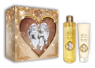 Liss Kroully Skin juice Парфюмерно-косметический подарочный набор AN-1705 White Musk Шампунь 260 мл + Крем для лица 100 мл