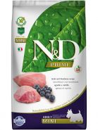 N&D Prime Dog GF Lamb & Blueberry Adult Mini Ягненок, черника. Полнорационный корм для взрослых собак. (7 кг)