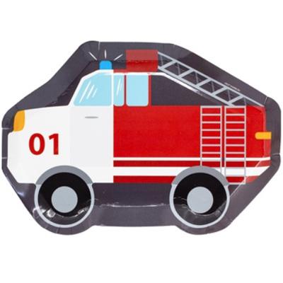 Тарелки Транспорт Пожарная машина