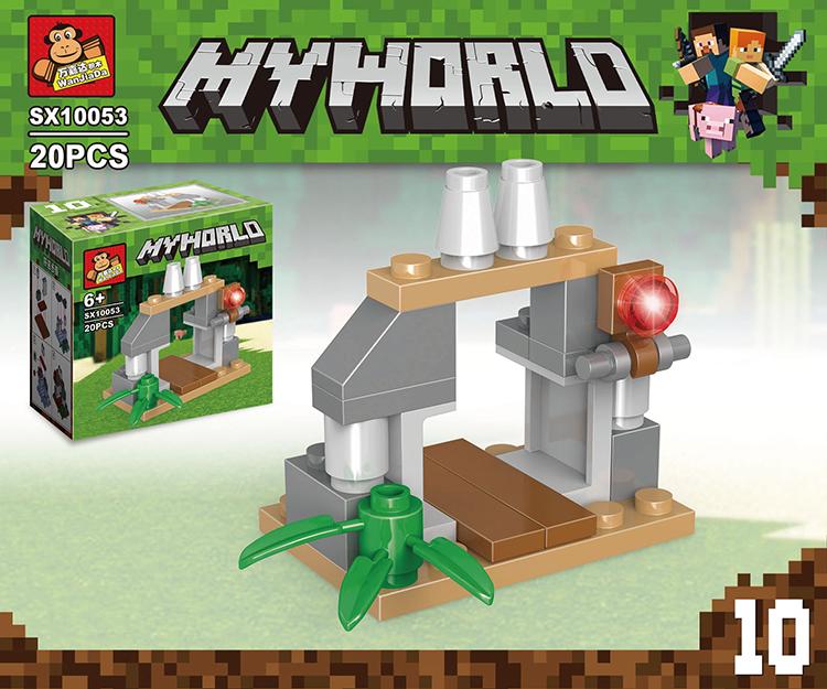 Конструктор Minecraft Myworld 19 деталей в ассортименте