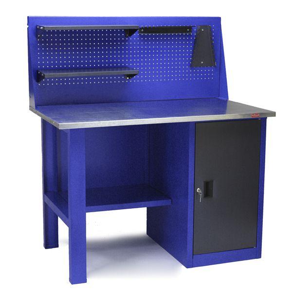 Стол для слесарных работ 1200 мм однотумбовый с экраном