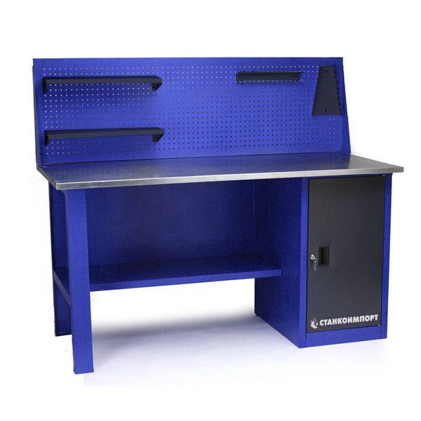 Стол для слесарных работ 1600 мм однотумбовый с экраном