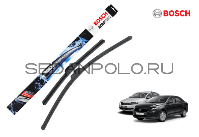 ЩЕТКИ СТЕКЛООЧИСТИТЕЛЯ К-КТ BOSCH AEROTWIN VOLKSWAGEN POLO SEDAN NEW 2020/SKODA RAPID