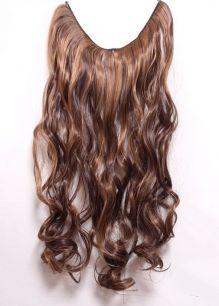 Искусственные термостойкие волосы на леске волнистые №F004/027 (60 см) - 100 гр.