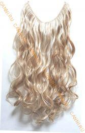 Искусственные термостойкие волосы на леске волнистые №F027B/613 (60 см) - 100 гр.
