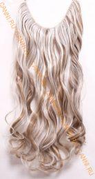 Искусственные термостойкие волосы на леске волнистые №F006P/613 (60 см) - 100 гр.