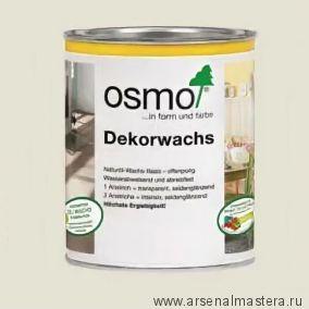Масло цветное Osmo Dekorwachs Deckend 3115 Светло - серое 0,75 л