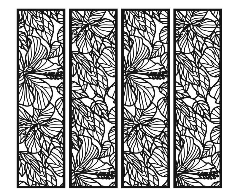 Свадебная ширма 4 створки прямоугольная с цветами