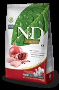 N&D Prime Dog GF Chicken & Pomegranate Adult Medium & Maxi Курица, гранат. Полнорационный корм для взрослых собак. (12 кг)