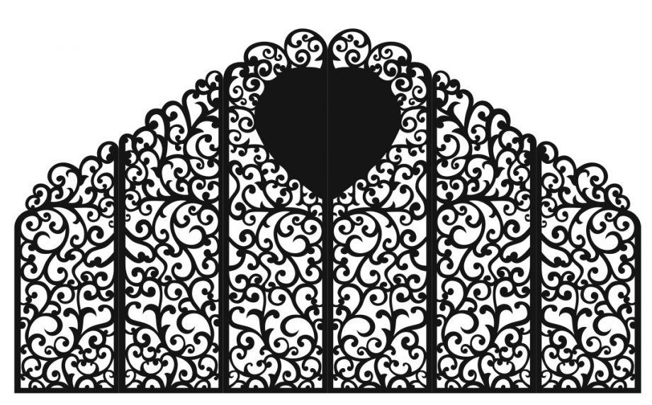 Свадебная ширма 6 створок с сердцем