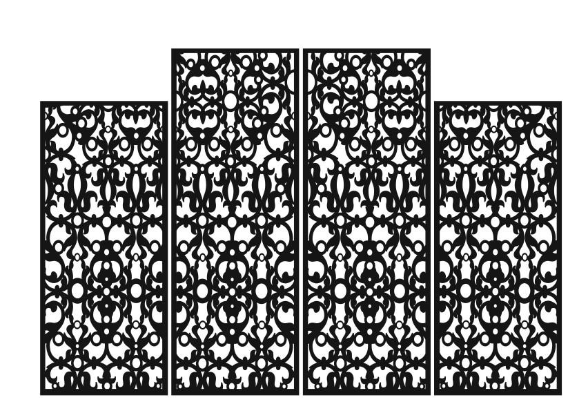 Свадебная ширма 4 створки ажурная прямоугольная