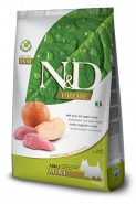N&D PrimeDog GF Boar & Apple Adult Mini Кабан, яблоко. Полнорационный корм для взрослых собак. (2,5 кг)
